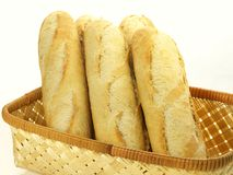 Baguettes for breakfast, isolated Stock Image
