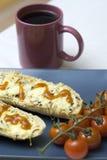 Baguettes del queso Fotos de archivo libres de regalías
