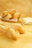 Baguettes fraîches avec du beurre V2 Photographie stock libre de droits
