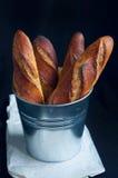 Baguettes franceses del artesano Fotografía de archivo libre de regalías