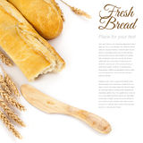 Baguettes Isolated Over White Royalty Free Stock Image