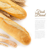 Baguettes isolated over white Royalty Free Stock Images