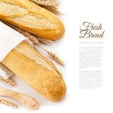 Baguettes isolated over white Stock Images