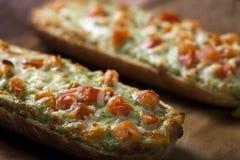 Baguettes met pesto Stock Afbeelding
