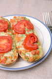 Baguettes met tomatenpesto Royalty-vrije Stock Fotografie