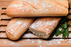 Baguettes na placa Foto de Stock Royalty Free