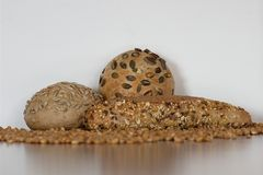Baguettes saborosos do cereal Imagens de Stock Royalty Free