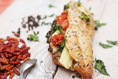 Baguettes sandwich ciabatta Royalty Free Stock Photos