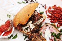 Baguettes sandwich Stock Images