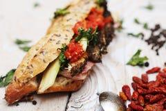 Baguettes sandwich Stock Photo