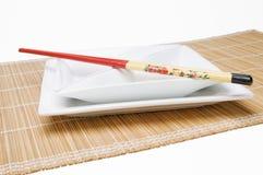 Baguettes sur le parallèle angulaire de plat Photos stock
