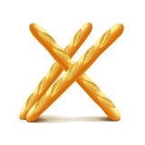 Baguettes sur le vecteur blanc illustration stock