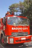 Baguio City IZUZU Fire Truck Royalty Free Stock Images