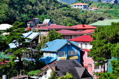 Baguio City rooftops Royalty Free Stock Photography