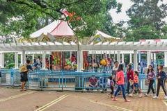 Baguio Filippinernaväg Trip_ Burnham Park Arkivbild