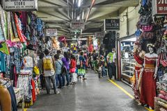 Baguio Philippines Road Trip_Public Market. The road to Baguio, once you leave the toll road, winds through mountain towns and mining camps. This is just one of royalty free stock photo
