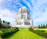 The Bahá`í House of Worship. Composed shot of The Bahá`í House of Worship in Wilmette, Illinois, originally designed by Louis Bourgeois and George A. Fuller Royalty Free Stock Photos