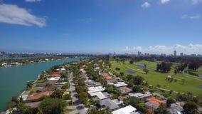 Bahía aérea de Miami Beach y de Biscayne almacen de video