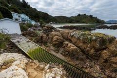Bahía abrasadora, Wellington, NZ Imagen de archivo