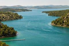 Bah?a adri?tica cerca de Skradin en Croacia fotos de archivo libres de regalías
