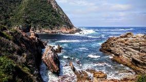 Bahía agradable colorida en Suráfrica Foto de archivo