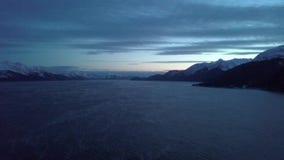 Bahía Alaska de la resurrección durante las horas de igualación metrajes