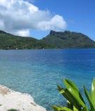 Bahía azul Foto de archivo