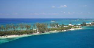 Bahía azul imagen de archivo libre de regalías