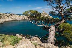 Bahía azul Fotos de archivo
