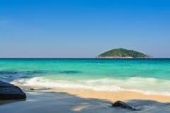 Bahía azul Foto de archivo libre de regalías