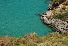Bahía azul Imagen de archivo
