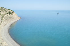 Bahía azul de la colina foto de archivo libre de regalías