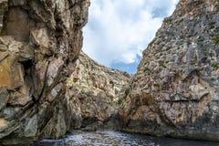 Bahía azul de la gruta en Malta Fotos de archivo libres de regalías