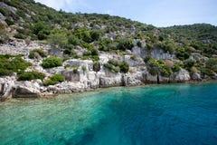 Bahía brillante de la turquesa Fotos de archivo