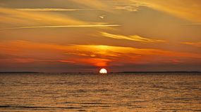 Bahía casi ida del St Josephs de la puesta del sol Fotografía de archivo