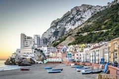 Bahía catalana Gibraltar Imagen de archivo libre de regalías