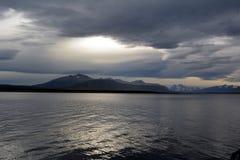Bahía cerca de Puerto Natales Fotos de archivo