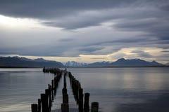 Bahía cerca de Puerto Natales Fotos de archivo libres de regalías