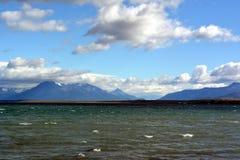 Bahía cerca de Puerto Natales Imágenes de archivo libres de regalías
