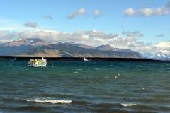 Bahía cerca de Puerto Natales Imagenes de archivo