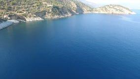 Bahía con el mar tranquilo 1 almacen de video