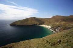Bahía con la playa Imagenes de archivo