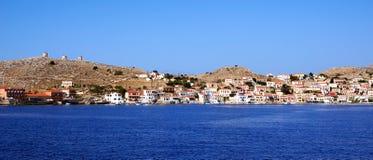Bahía con las naves de los pescadores Imágenes de archivo libres de regalías