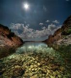 Bahía croata Imagen de archivo libre de regalías