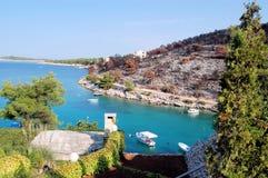 Bahía croata Fotografía de archivo libre de regalías