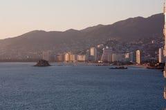 Bahía de Acapulco Foto de archivo libre de regalías