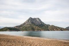 Bahía de Adrasan en Turquía Foto de archivo libre de regalías