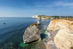 Bahía de agua dulce la isla del Wight imagenes de archivo