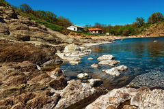 Bahía de Ahto, cerca del pueblo de Sinemorets, Bulgaria Imagenes de archivo