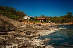 Bahía de Ahto, cerca del pueblo de Sinemorets, Bulgaria Imágenes de archivo libres de regalías